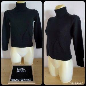 • Banana Republic • Black Wool Turtleneck Sweater